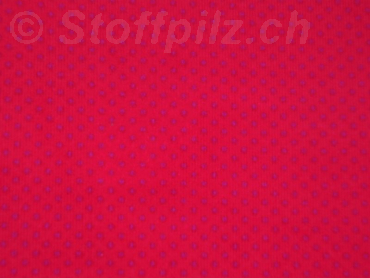 Feincord Punkte rot - pink