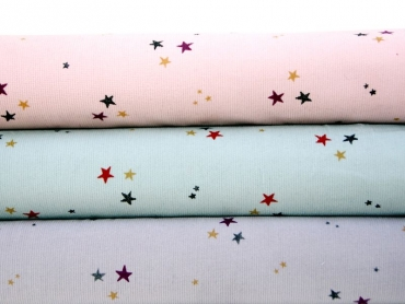 "Feincord Hilco ""Colorfulstars"" dusty mint"