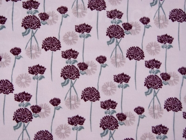 Baumwollsweat Organic Blumen dusty rose