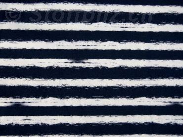 Sommersweat Stripes marine - weiss