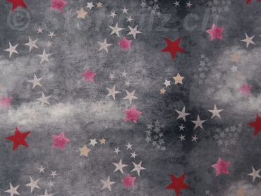 "Sweat Hilco ""Trouble Star"" Batik grau - pink"