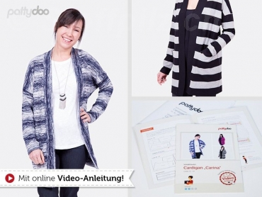 Sweatkleid Cardigan Carina, Schnittmuster Gr. 32 - 54 by pattydoo