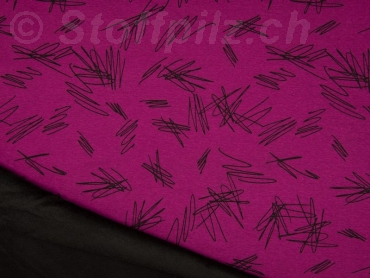 Wellness Sweat - Alpenfleece Scratch fuchsia